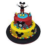 Mickey Mouse Club House Cake For Kid's Birthday