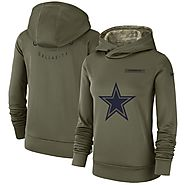 2018 Dallas Cowboys Salute to Service Hoodie for Women - All Teams