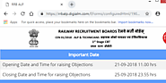 RRB ALP Answer Key Objection Tracker Link 2018: How To Challenge Your ALP Answer Key through Objection Tracker