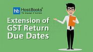 Extension of GST Return Due Dates - HostBooks