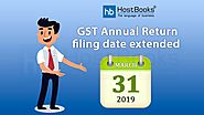 Extension of GST Annual Return Due Date | HostBooks