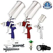 TCP Global Brand HVLP Spray Gun Kit