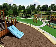 Childcare Playground With Safety Environment