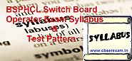 BSPHCL Switch Board Operator Syllabus 2018 Jr. Lineman Asst Operator Technician Exam Pattern - CbseRexam