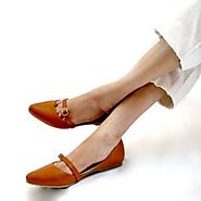 Buy Maya Tan Ballet Flats Online at Best Price From PAIO Shoes
