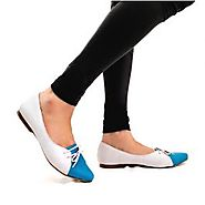Buy Clarice Blue And Grey Ballet Flats Online at Best Price From PAIO Shoes