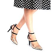 Buy Harriet Copper And Black Stiletto Heel Online at Best Price From PAIO Shoes