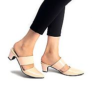 Buy Heidi Patent Peach Mule Heels Online at Best Price From PAIO Shoes