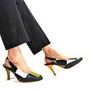 Buy Aviana Black Sling Back Heels Online at Best Price From PAIO Shoes