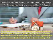 PPT - What Are The Ways To Become A Successful Real Estate Agent? | Boldleads Reviews PowerPoint Presentation - ID:80...