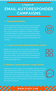 3 types of email autoresponder compaigns