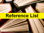 Reference List Templates | 13+ Free Word, Excel & PDF
