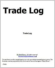 Trade Log Templates | 2+ Word, Excel & PDF | Free Log Templates