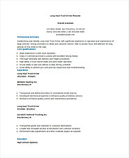 Truck Driver Resume Templates | 13+ Free MS Word & PDF