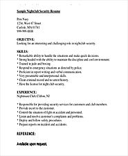Security Guard Resume Templates | 12+ Free Word & PDF