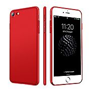 iPhone 7 Case, HUMIXX Thin Sleek Fully Protective (Naked Phone Texture) Matt Finish Hard Case Cover for iPhone 7 (Red...