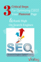 Pinterest Video Tutorial: 3 Critical Steps for Optimizing (SE0) Your Pinterest Page To Rank High On Search Engines