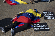 Venezuelans protest in front of the White House