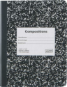 "Staples® Composition Notebook, Black, 9-3/4"" x 7-1/2"" 
