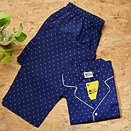 Royal Blue Mens Pyjama & Shirt - Buy online at GaadlawalaGarage