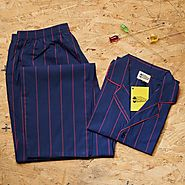 Pin Striped Dark Blue Pyjama Set - Buy online at GaadlawalaGarage