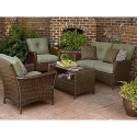 Ashton 4 Pc. Envelope Woven Seating Set- La-Z-Boy-Outdoor Living-Patio Furniture-Casual Seating Sets