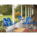 Retro Steel Clam Glider - Blue- Garden Oasis-Outdoor Living-Patio Furniture-Gliders & Rockers