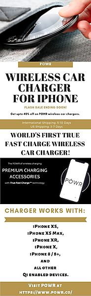 POWR - Wireless Car Charger for iPhone