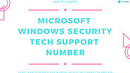 Microsoft Windows Security Tech Support Number | 247 PC Assist