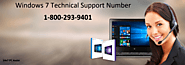 Dial Windows 7 Technical Support Number