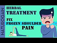 10 Simple Stretches to FIX Frozen Shoulder Pain, Herbal Treatment