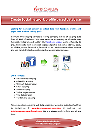 create social media based database | edocr
