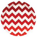 Popular red chevron party plates