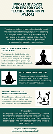 Important Advice and Tips for Yoga Teacher Training in Mysore