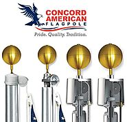 Full Line of Commercial Flag Poles and Residential Flag Poles for sale