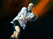 Famous sports painting artist in New Zealand
