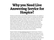 Why you Need Live Answering Service for Hospice?
