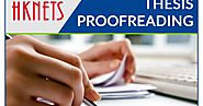 How much do you know about thesis proofreading?