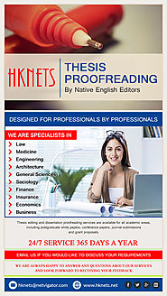 When do you need a thesis proofreader?