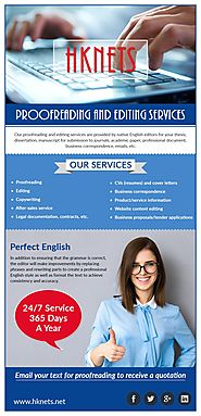 Benefits of Dissertation Editing Services