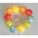 10 Ct. Multicolor Chinese Paper Lantern Light Set- Garden Oasis-Outdoor Living-Outdoor Lighting-Decorative Lighting