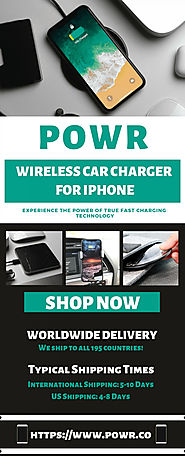 POWR - Fast Wireless Car Charger for iPhone