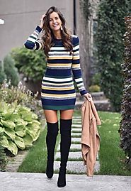 Calico Sweater Dress