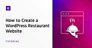 How to Create a WordPress Restaurant Website - Elementor