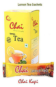 Instant Lemon Tea Powder Sachets In Bulk | Chaikapi Services