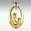 Mother and Child 14k Gold Vermeil Cremation Jewelry