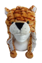 Animal Hat Kids - Children's Size with Ear Covers and Fleece Lining (Orange Tiger)