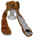 Brown Bear Animal Hat and Muffler with Mittens
