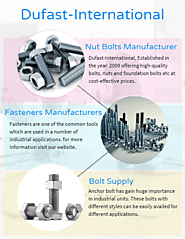 Find the Best Nut Bolts Manufacturer and Fasteners Manufacturers