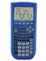Guerrilla Blue Silicone Case For Texas Instruments TI 84 Plus Graphing Calculator
